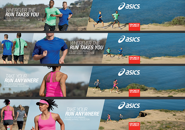 Apparel toppers and in-store display for ASICS